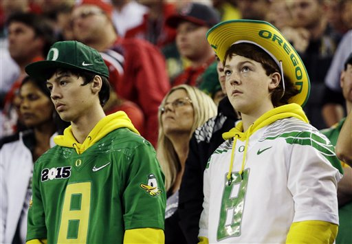 ducks Playoff Championship Ohio St Oregon Football_112796