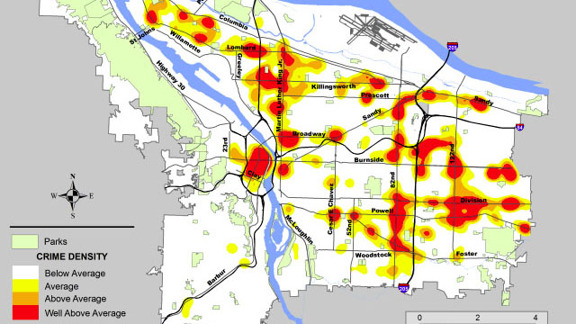 Crime data site 'shows how safe Portland is' on springfield interchange map, end map, seattle to san francisco map, evacuation map, cad map, service map, art bus map, signal map, utility map, night market map, patent map, water supply map, traffic control map, mine rescue map,