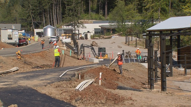 Construction in progress for Elephant Lands at the Oregon Zoo, April 2015 (KOIN 6 News)