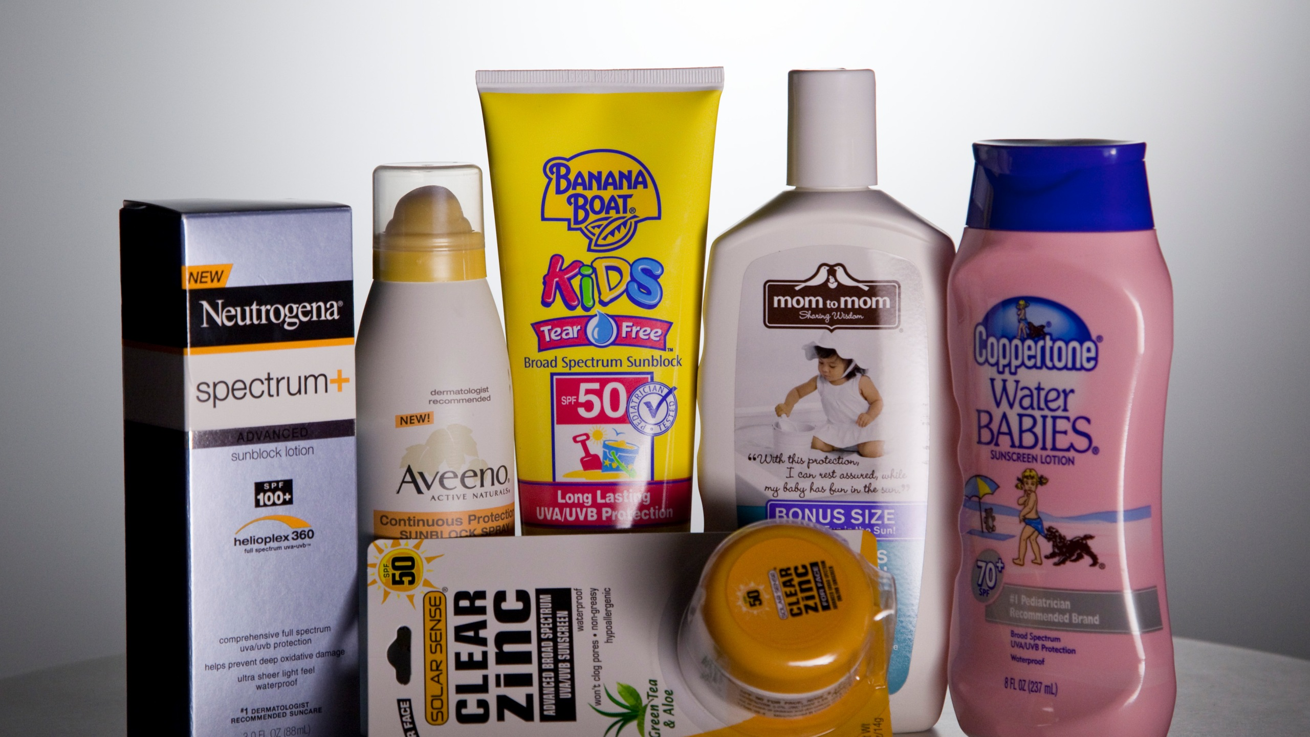 A variety of sunscreen products, generic_154835