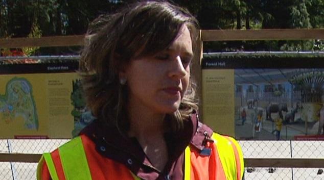 Heidi Rahn, the Oregon Zoo's bond program director, April 2015 (KOIN)