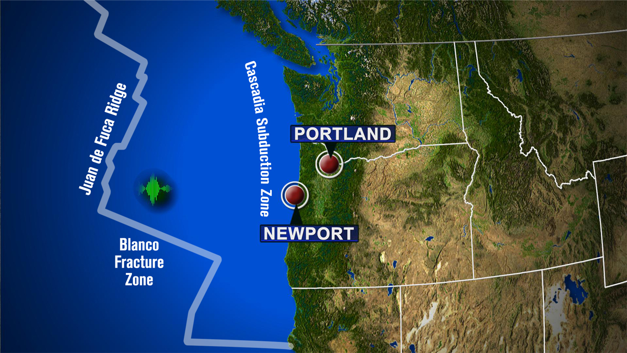 A series of earthquakes struck off the Oregon coast early June 1, 2015, but scientists said they weren't strong enough to trigger tsunamis. (KOIN 6 News)