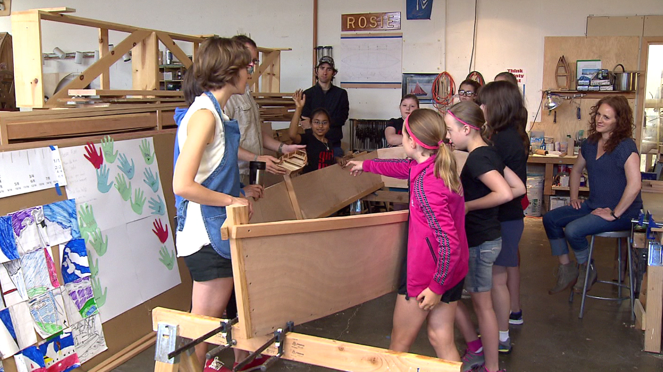 One local summer camp is giving girls the opportunity to build a boat, July 10, 2015. (KOIN)