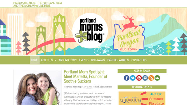 One local mom started a first-of-its-kind network to help other mothers feel more connected, July 2, 2015. (Courtesy, Portland Moms Blog)