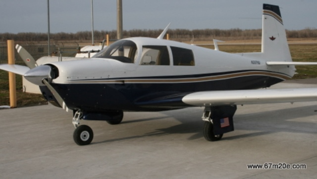 A 1967 Mooney M20E as seen on their website, July 4, 2015