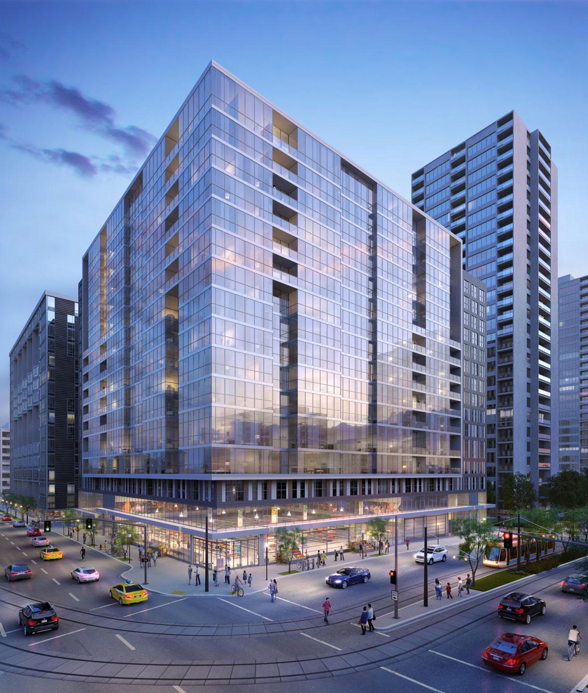 New development at 4th & Harrison, as presented at Design Advice. (NextPortland.com)
