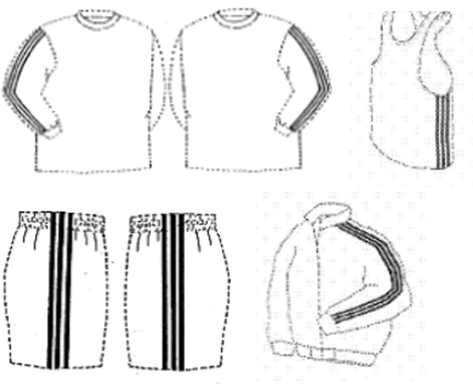 Examples of Adidas' the Three-Strip Mark as shown in federal court documents
