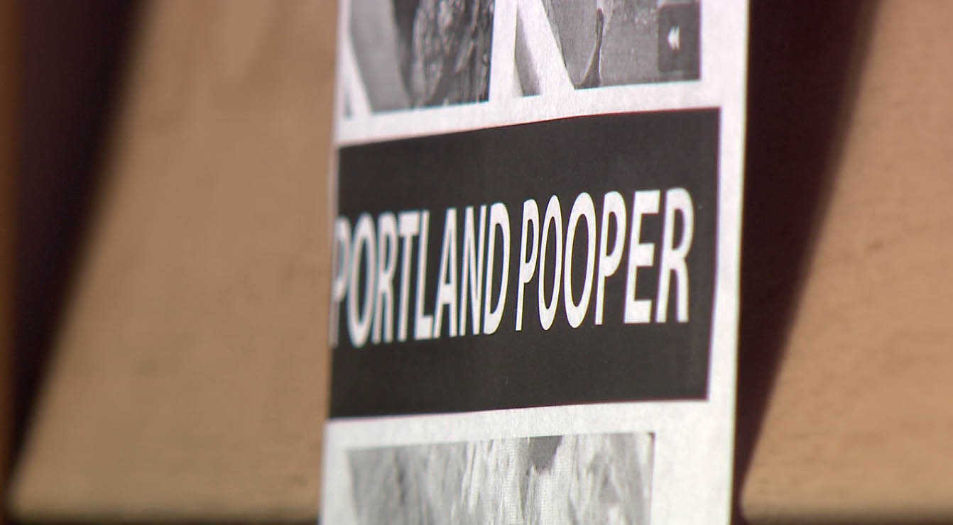 "Others in the area said they recognized the ""Portland Pooper"" shown in the flyer. (KOIN)"