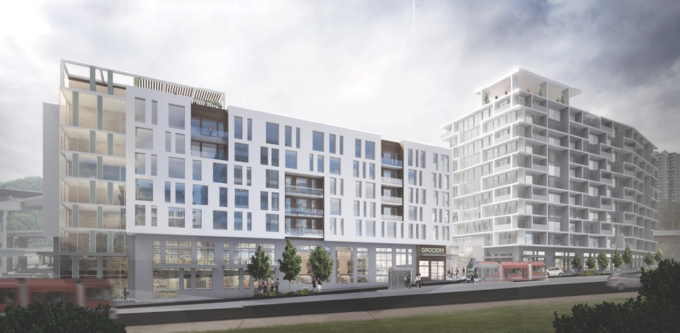 Riverplace Parcel 3 will include 203 units of affordable housing, 162 units of market rate housing and 30,000 sq ft of retail. (NextPortland.com)
