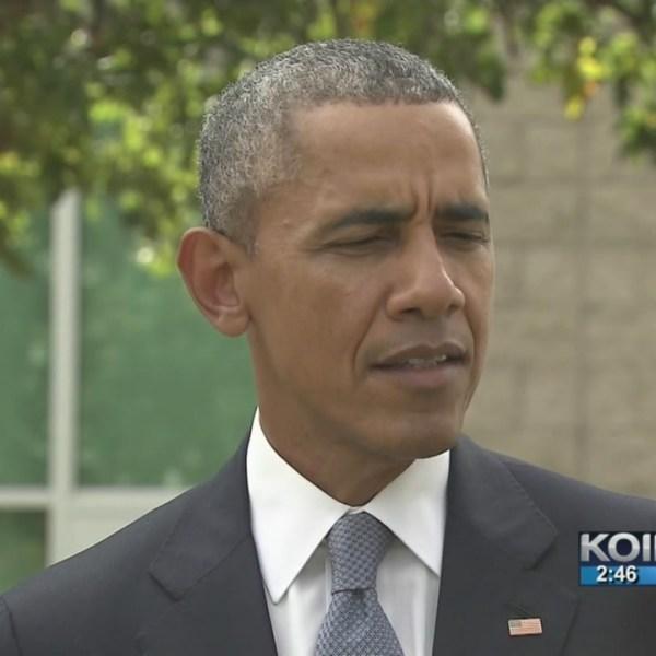 President Obama speaks at Roseburg High School