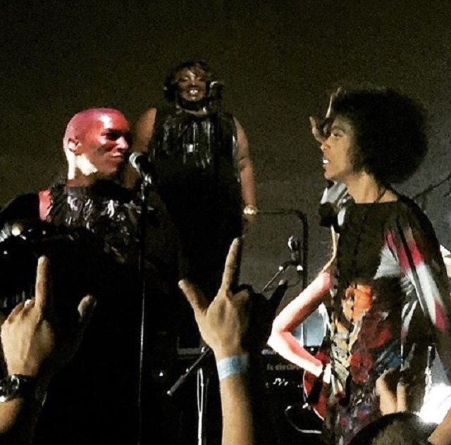 Prince (right) and Saeeda Wright (background) during the Hit-and-Run tour in 2015 (Courtesy: Saeeda Wright)