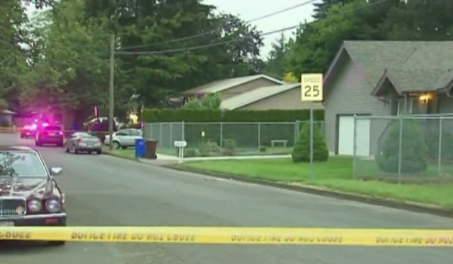 Detectives are at the scene of the officer-involved shooting in Gresham, May 24 2016. (KOIN)