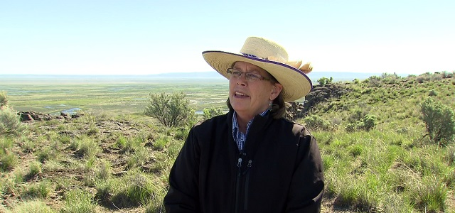Brenda Smith at the Malheur National Wildlife Refuge, April 29, 2016 (KOIN)