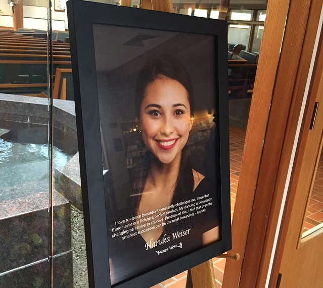 Family and friends of Haruka Weiser gathered at the Holy Trinity Catholic Church in Beaverton for her funeral, April 23, 2016 (KOIN)