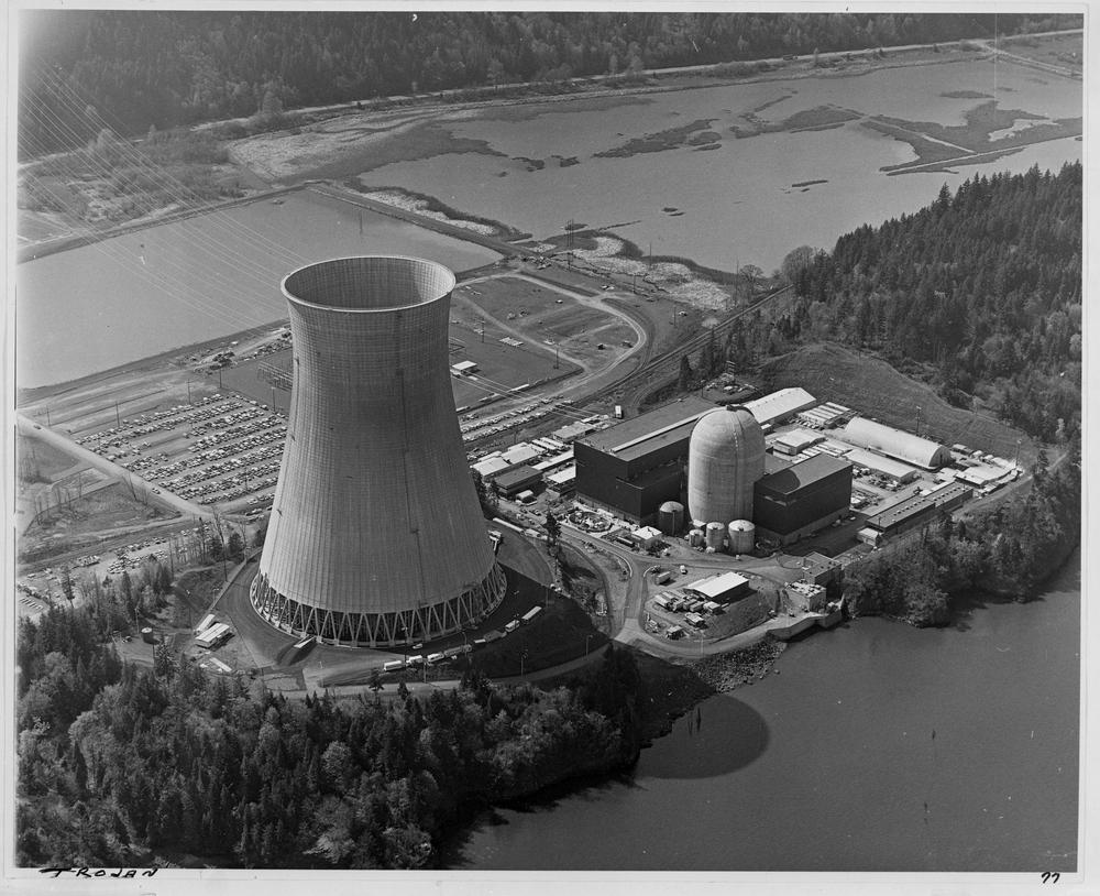 The Trojan Nuclear Power Plant in 1978 (Oregon Encyclopedia/Oregon Historial Society)