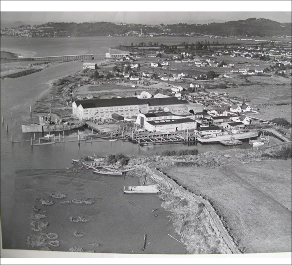 This is an historic image of the Astoria Marine Construction Company