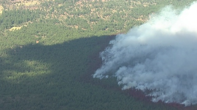 The Akawana Fire is burning 13 miles north of Sisters. (KOIN)