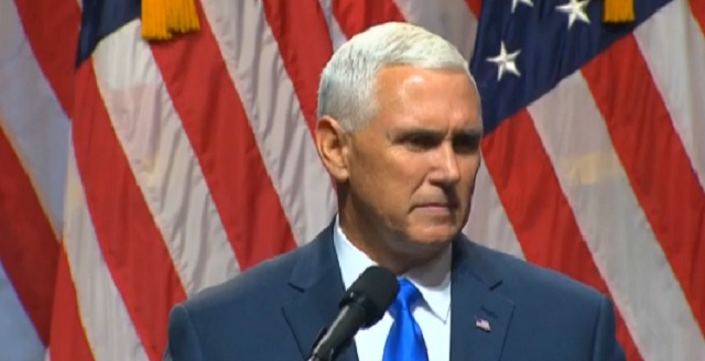 Indiana Gov. Mike Pence accepts the offer to join Donald Trump as VP on the GOP ticket, July 16, 2016 (CBS)
