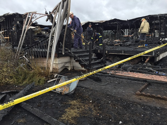 This is an image of a deadly fire in Newberg
