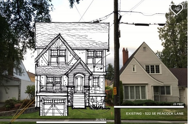 A rendition of what a lot-split home would look like on Peacock Lane in Southeast Portland, as seen on their GoFundMe page, July 1, 2016