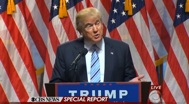 GOP presidential candidate Donald Trump introduces Mike Pence as VP choice, July 16, 2016 (CBS)