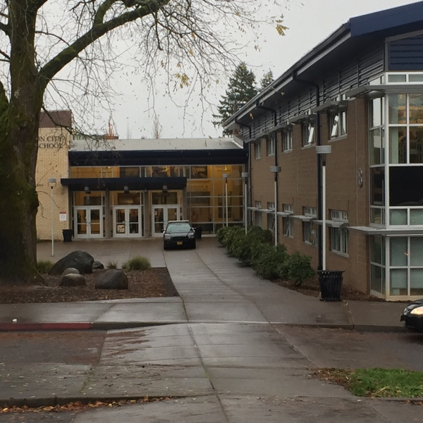 A protest took place at Oregon City High School, October 27 2016. (KOIN)_363267
