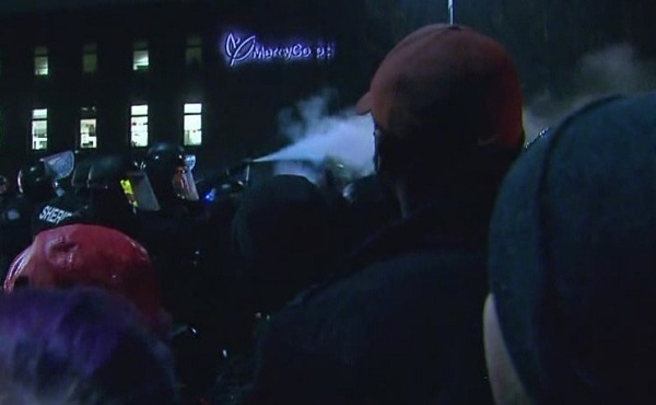 PPB uses pepper spray on protest crowd