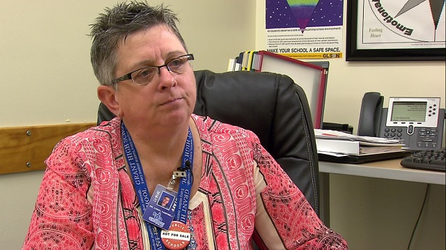 Carol Campbell, the principal of Grant High School in Northeast Portland, February 7, 2017 (KOIN)