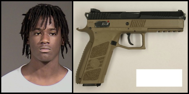 Quanice Hayes, 17, was shot to death by Portland police after using the replica gun pictured above in crimes on February 9, 2017 (PPB photos)