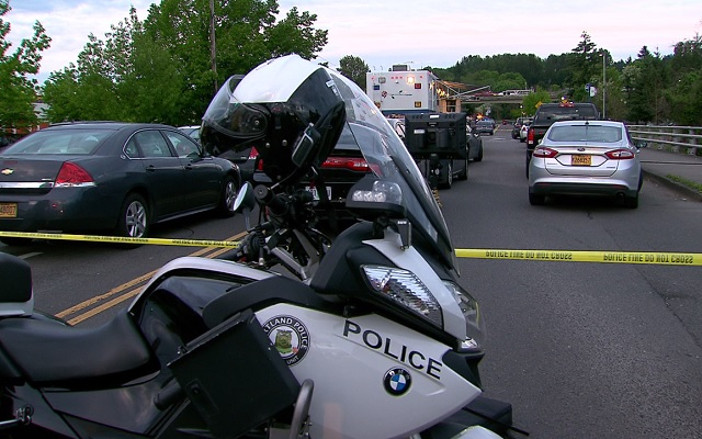 One person died in an officer involved shooting at SE 92nd and Flavel Street on May 10, 2017. (KOIN)