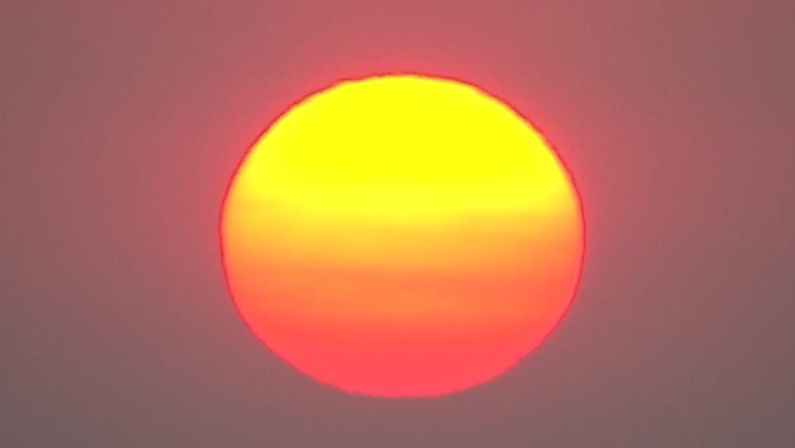The sun rises over Portland as seen from Chopper 6, August 2 2017. (KOIN) hot heat sun generic_498376