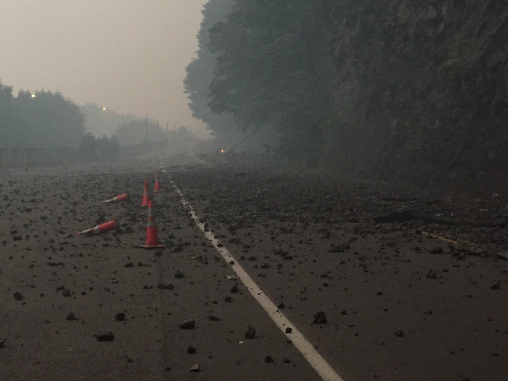 Destruction on the Historic Columbia River Highway from the Eagle Creek Fire. (Sheriff Mike Reese)_514933