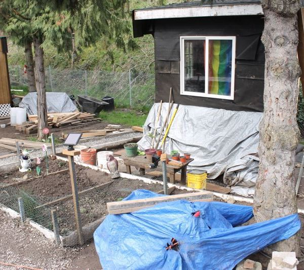 The Hazelnut Grove camp sits on city-owned land in North Portland's Overlook neighborhood. (Lyndsey Hewitt, The Portland Tribune)_523010