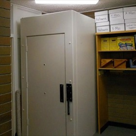 """An """"isolation booth"""" used at Mint Valley Elementary School in Longview, Washington.  (KOIN file)"""
