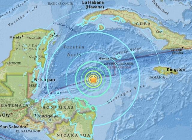 earthquake map caribbean_580102