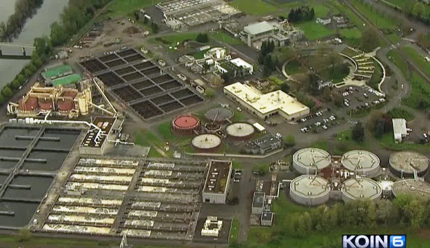 An overhead view of the Columbia Wasterwater Treatment Plant in Portland (KOIN, file)