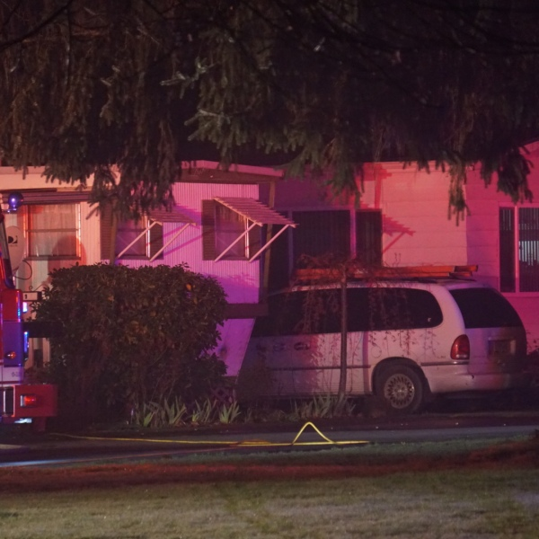 A woman was found dead after a fire at a mobile home in Hillsboro