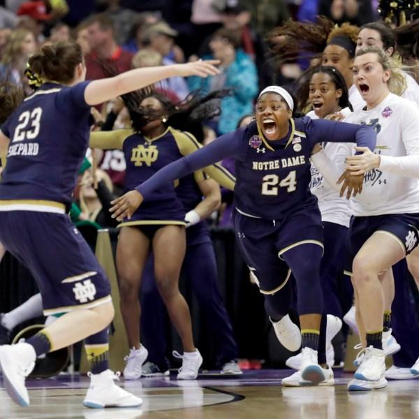 APTOPIX NCAA Championship Notre Dame Mississippi St Basketball_1522628778833