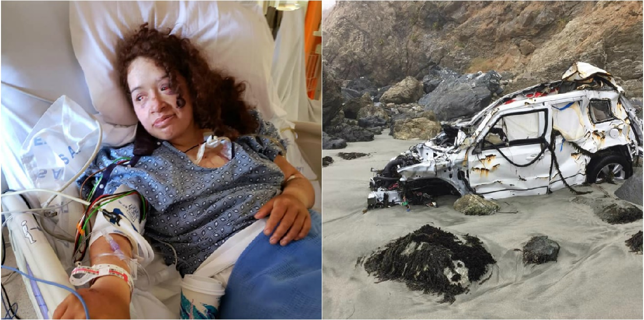 Angela Hernandez described her days stranded on a beach waiting to be rescued. (Facebook)