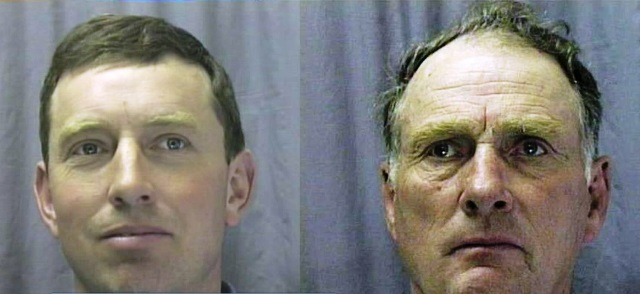 Steven Hammond, left, and Dwight Hammond in undated mug shots (KOIN, file)