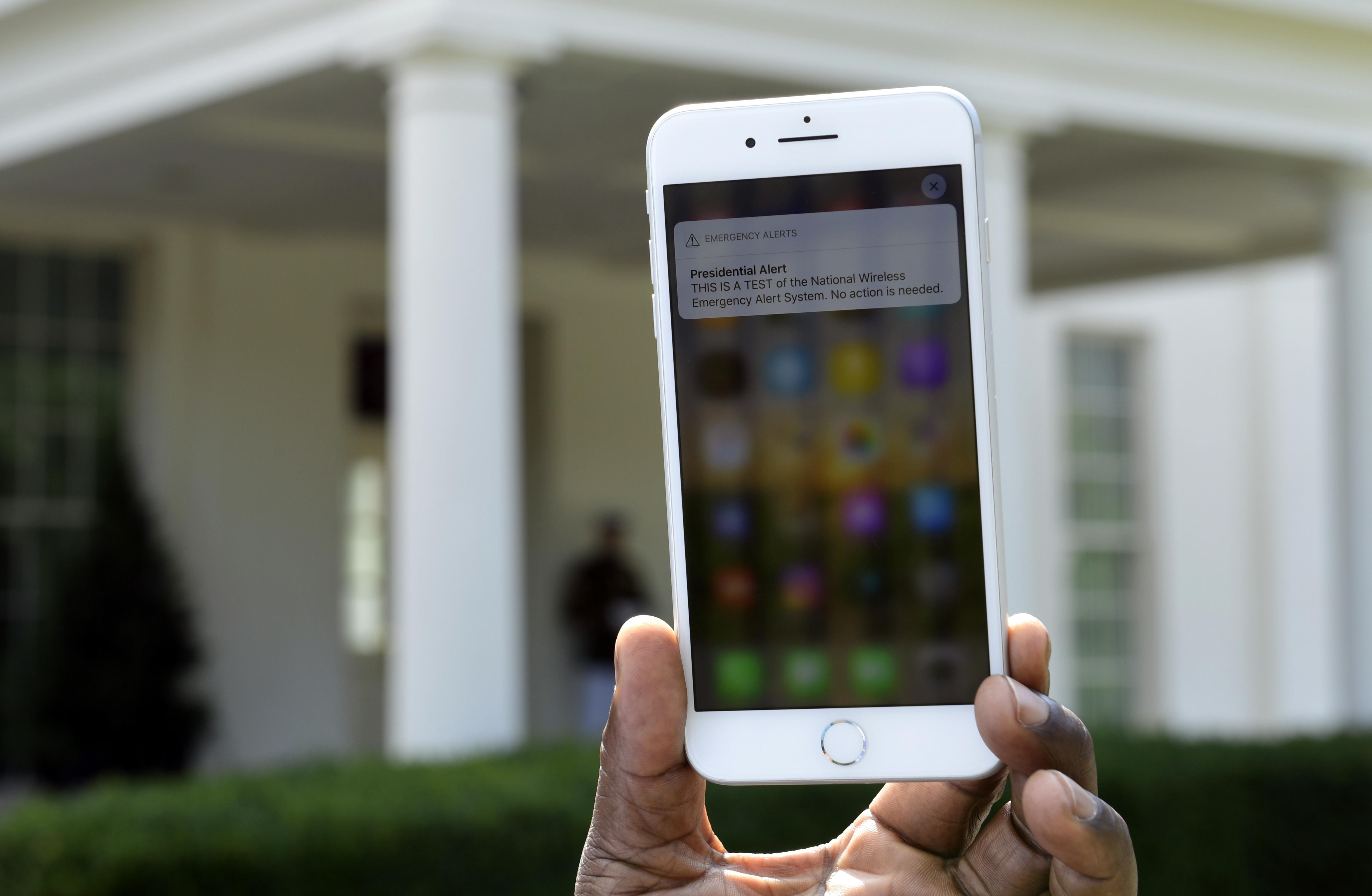 Not everyone got the 'Presidential Alert'