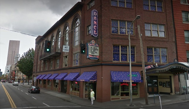 The Crystal Ballroom, 1332 W. Burnside in Portland, as seen on Google Street View August 12, 2017