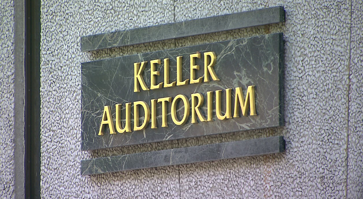 In 2000, the Civic Auditorium across from the fountain was renamed Keller Auditorium, after the Keller family donated $1.5 million to renovate the space. (KOIN)