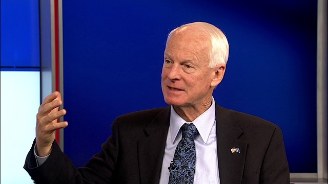 Dennis Richardson, the Republican candidate for Oregon governor, in an interview at the KOIN 6 News studios, Oct. 8, 2014 (KOIN 6 News)
