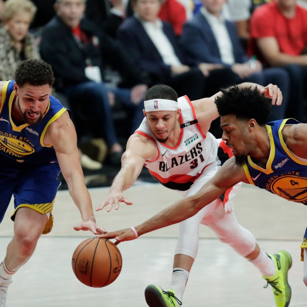 Warriors Trail Blazers Basketball_1558408707716