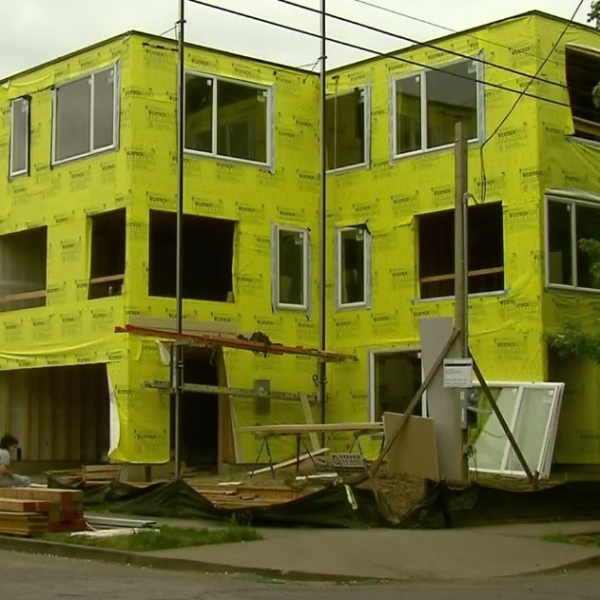 A file photo of construction in Portland generic construction housing