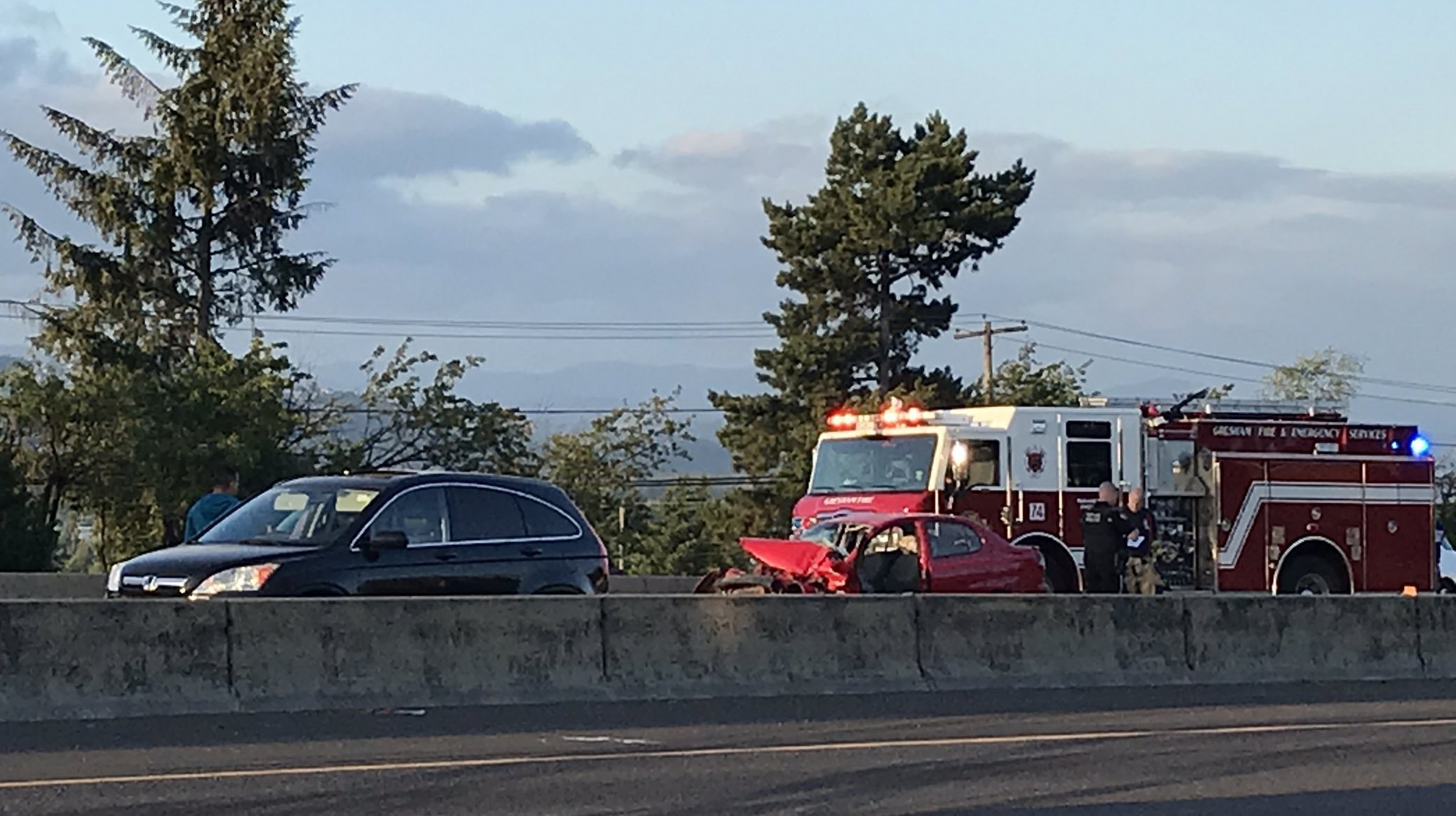Man dies after crashing into back of semi on I-84