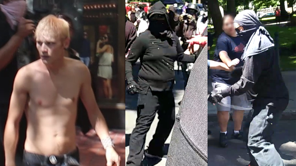 Portland police want help identifying these people who may have been involved in violence during a protest on June 29, 2019. (PPB)