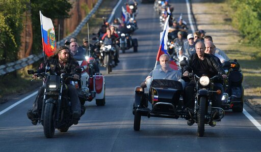 Ukraine protests Putin's trip to motorcycle show in Crimea | KOIN com