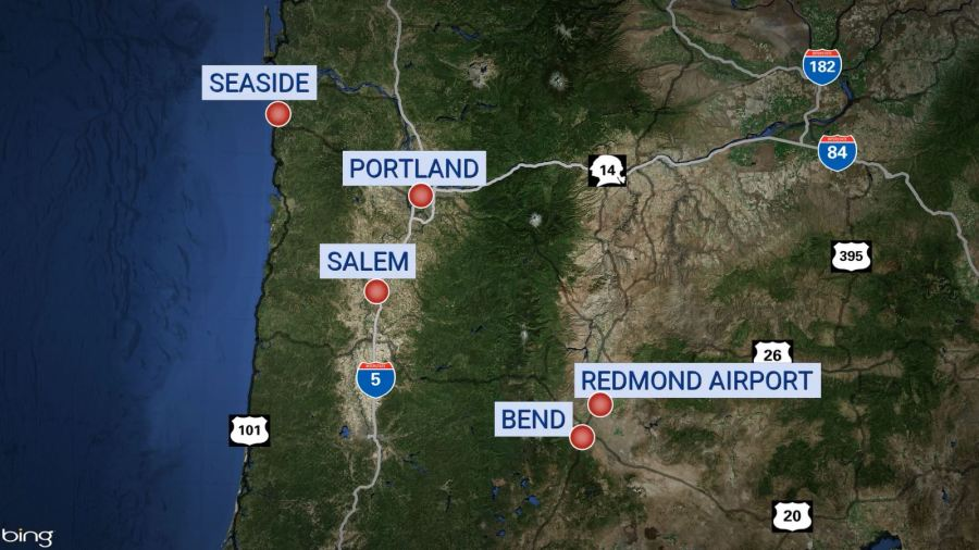 redmond airport map